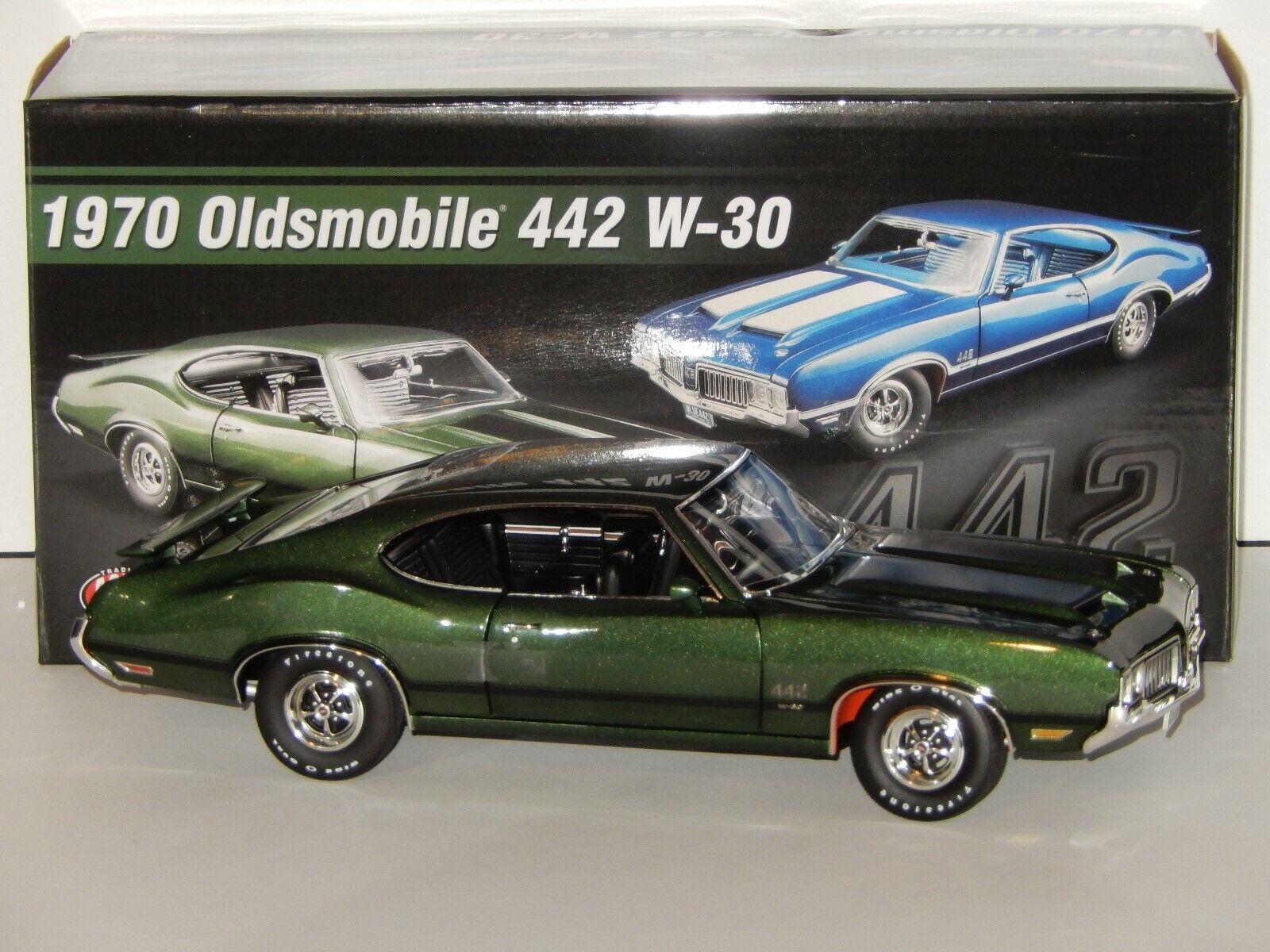 1 18  Scale GMP Acme 1970 Oldsmobile 442 W-30, Item No. A1805612, Sherbois vert  pas cher et de la mode