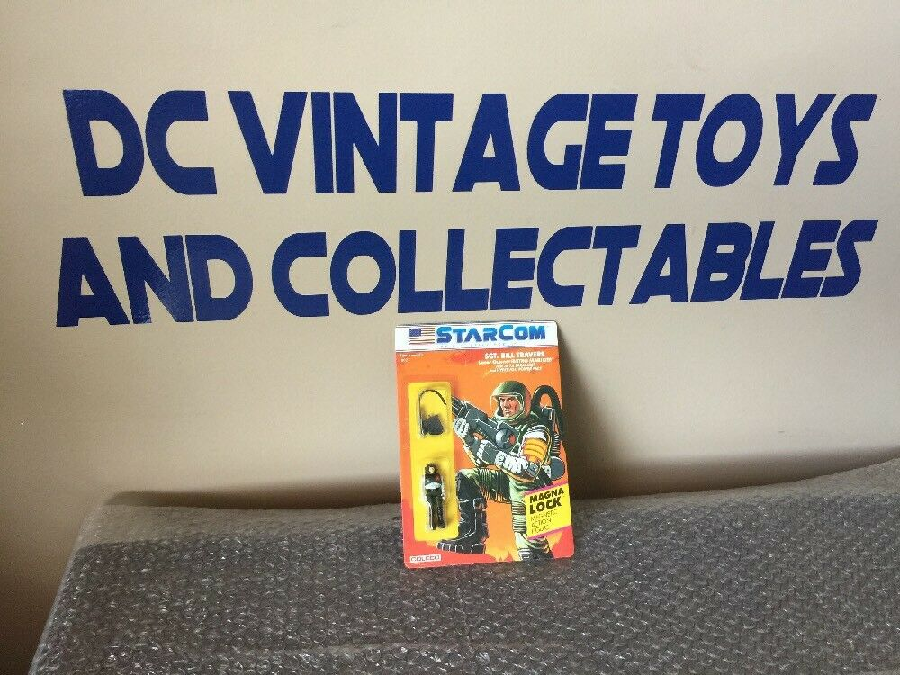 Vintage 1986 StarCom Coleco SGT. BILL TRAVERS Case Fresh Unpunched Look