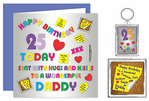 Image Is Loading Daddy Happy Birthday Gift Set Card Keyring Amp