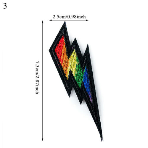 1pcs Rainbow Iron On Patches Gay Pride Embroidered Patch Sticker DIY Appliques
