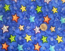 "100% cotton flannel fabric fat quarter stars (18""X22"") Dana Sims Marcus Bros."