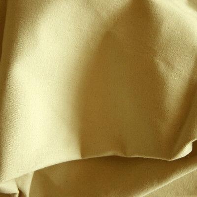 New by Dcf Heavy Cotton Canvas Fabric Cream Oatmeal 50cm x 180cm