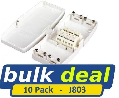 Ashley J803 sans entretien 30 A Junction Joint Box Pack de 10