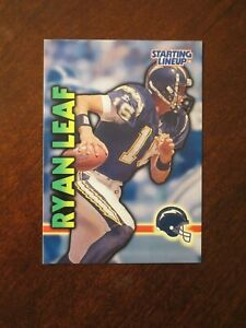 1999  RYAN LEAF SAN DIEGO CHARGERS Kenner Starting Lineup Card
