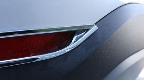 2 Stücke Chrom Rückseite Licht Lampe Rahmen Trim Für BMW X1 F48 20 25i 25l 16-17