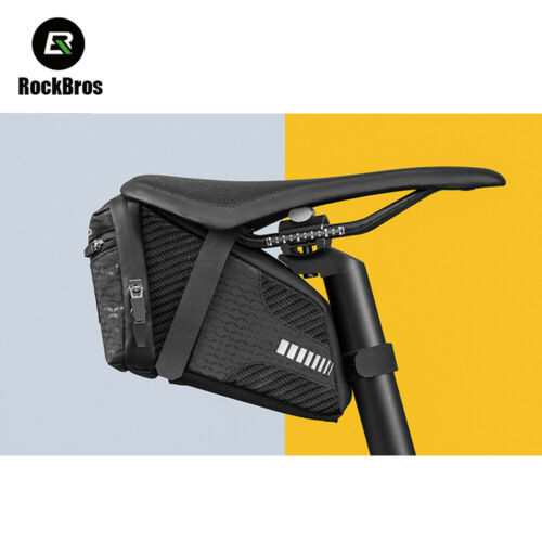 ROCKBROS Bike Saddle Bag Bike Seat Bag Cycling Wedge Pack 1.5L Under Seat Pouch