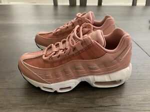 Details about Women Nike Air Max 95 sz5 Rust PinkParticle Beige Black 307960 606