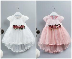 1pc Kids Baby Girls summer Princess Birthday Dress Pageant Party dress flower