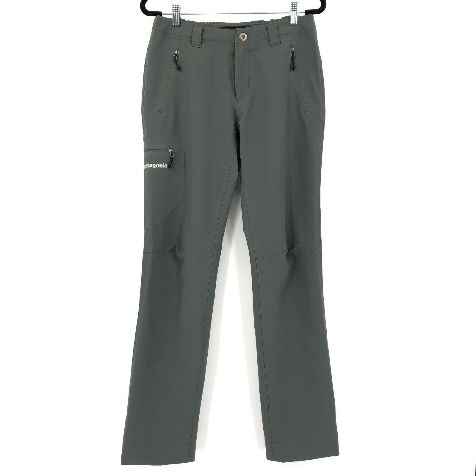 Patagonia Tactical Zip Pockets Moisture Wicking Hiking Outdoor Pants Gray Size 4