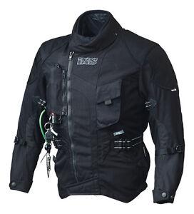 IXS-Motorrad-Jacke-Textiljacke-Stunt-Airbag-Gr-L-schwarz-wasserdichte-Membrane