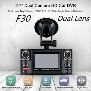 Dual-Lens-F30-2-7-039-039-Auto-Camcorder-Car-DVR-Camera-Vehicle-Driving-Recorder-Dash