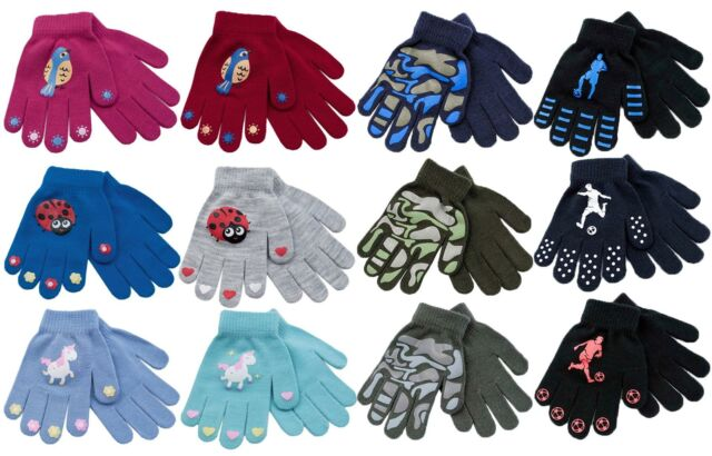 3 Pairs black Gripper thermal one size stretch magic driving gloves men womens