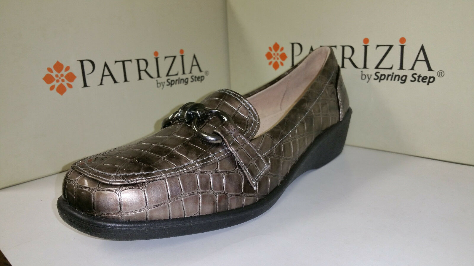 Patrizia by Spring Step Women's Caiman Pewter shoes size US 5.5-10