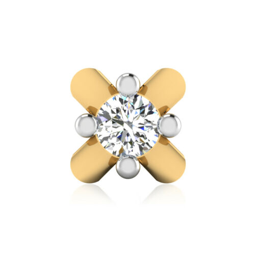 Details about  /Genuine 14K Yellow Gold 0.04 Ct Diamond Nose Screw Stud Pin 24 Gauge 3.89 mm