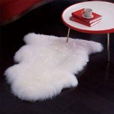 Faux Fur Sheepskin White Area Rug Flokati Shaggy Rug 2 x 3 Sheep Shape White