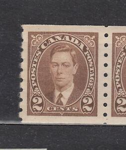 "1937 #239 2¢  KING GEORGE VI ""MUFTI"" COIL F-VFNH"