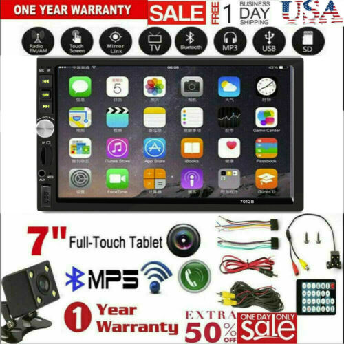 """2DIN 7"""" HD Car Stereo Radio MP5 Player Bluetooth Touch Scree"""