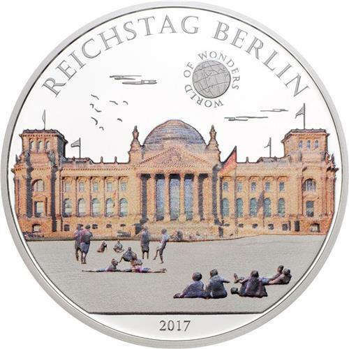 Palau 2017 5 $ World of Wonders Reichstag Berlin 20g Silver Proof Coin
