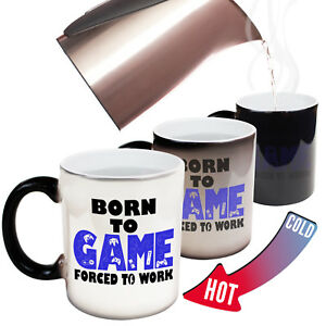 Funny Mugs Born To Game Forced To Work Geek Nerd Gamer MAGIC NOVELTY MUG