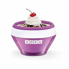 Zoku Ice Cream Maker Slush Yogurt Makers Sorbet Purple