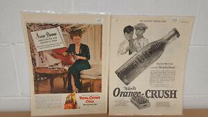 Two-Original-Vintage-Soda-Pop-Magazine-Ads