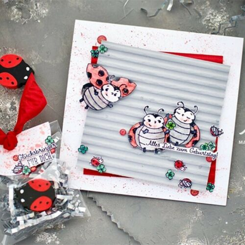 Ladybug Metal Cutting Dies And Stamps Stencils For Diy Scrapbooking Album Cards