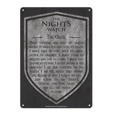 Genuine Game Of Thrones Small A5 Steel Sign Tin Wall Door Plaque Art Night