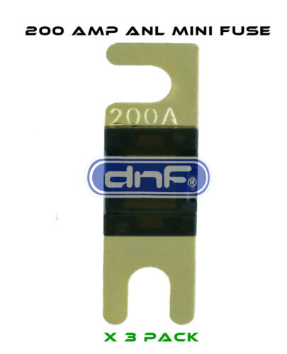 3 PCS DNF ANL MINI FUSE 200AMP FREE SAME DAY SHIPPING!
