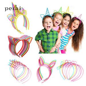 Unicorn-Headband-children-girl-039-s-Hair-Hoop-Party-Accessories-Cat-ears-Headwear