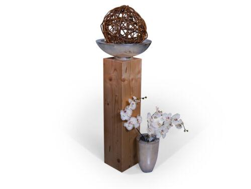 Blumensäule Dekosäule Blumenständer Fichte massiv eichefarbig 19x19 Höhe 80 cm