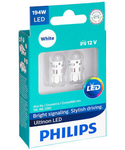 philips vision led 12v t10 w5w 11961ulwx2 led lp 6000k 2 pc ebay. Black Bedroom Furniture Sets. Home Design Ideas