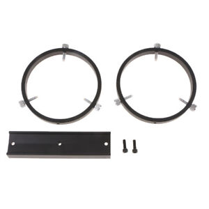 160mm-Guide-Star-Dovetail-Mounting-Plate-w-Tube-Rings-for-Astro-Telescope