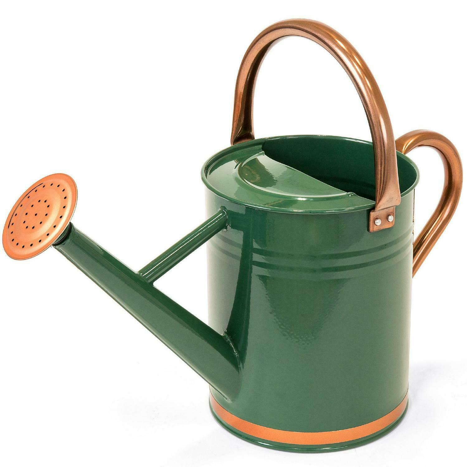 1 Gallon Watering Can Galvanized Steel Garden Bucket With O-Ring And Top Handle
