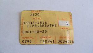NOS OEM Kawasaki Breather Pipe KLT110A1 1984 32032-1516