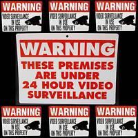 Warning Hidden Video Home Security Cctv Ip Camera Alarm System Sign+sticker Lot