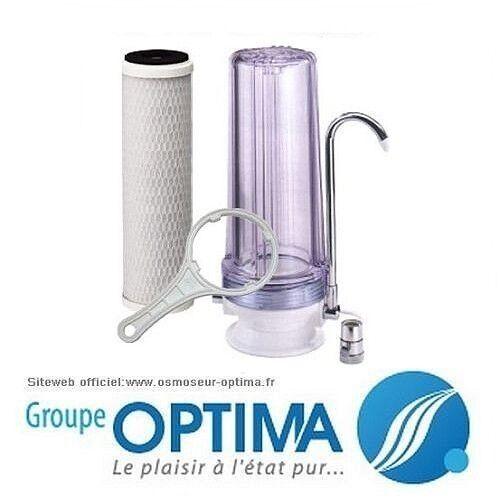 Fontaine d/'eau sur évier filtration contre les odeurs le chlore .