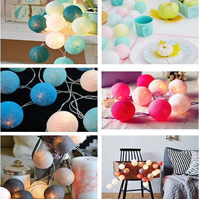 Christmas Lights 3M 20 LED Cotton Ball LED String decorations Party ornaments