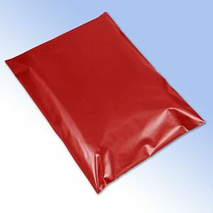 1-Strong-Red-Self-Seal-Plastic-Poly-Mailing-Postage-Bags-12x16-034-305x405mm