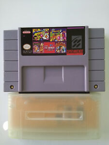 Amical Es-snes Adaptateur Play Usa-japon-pal In Toutes Snes + 5 In 1 Usa Cart Nouveau