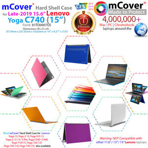 NEW-mCover-Hard-Case-for-Late-2019-15-6-034-Lenovo-Yoga-C740-15-034-2-in-1-Laptop