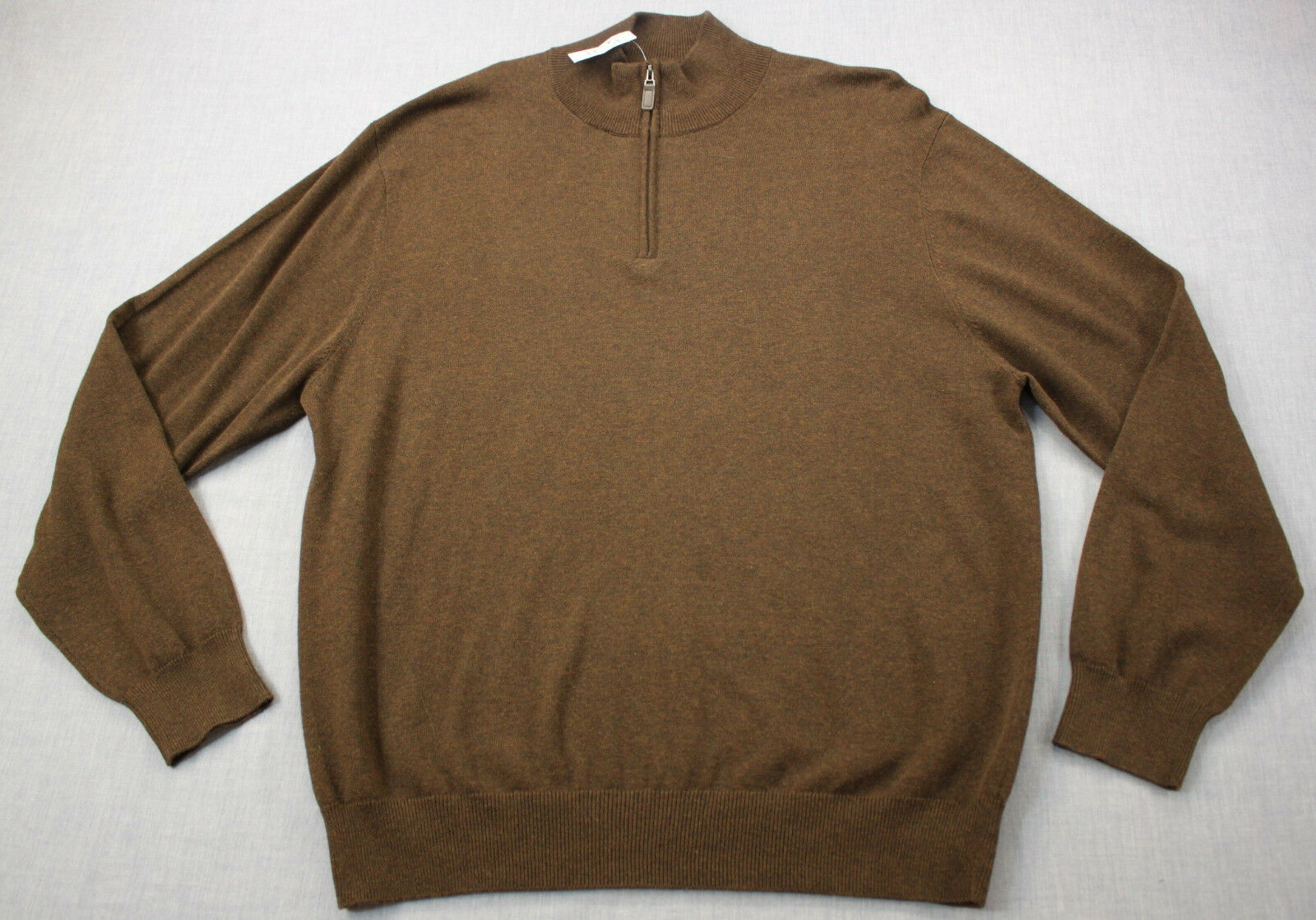 Jos A Bank Signature Collection  Herren Braun Pima Cotton Half Zip Sweater  NWT  L