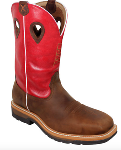 324a04bcfe7 Twisted X Men's Red Waterproof Lite Cowboy Work Boots Composite Toe ...