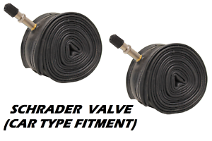 "2x Schrader Valve Cycle Bike Tubes 27.5/"" 1.50 1.75 1.95 2.00 2.10 CAR TYPE"
