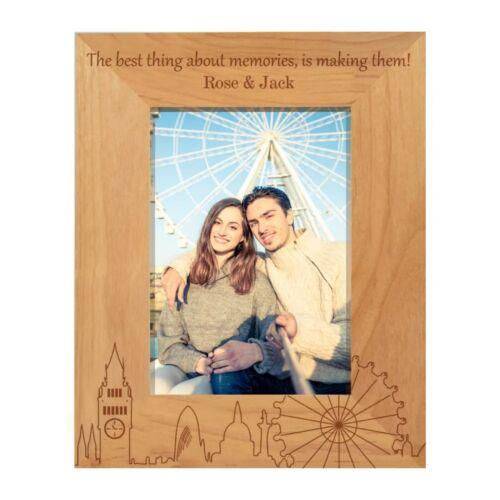 PERSONALISED LONDON MEMORIES PHOTO FRAME HOLIDAY CHRISTMAS COUPLE GIFT KEEPSAKE