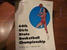 1983 Iowa High School Girls State Basketball Championship Official Program