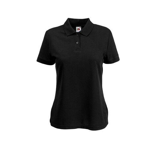 Fruit of the Loom Damen Polo Shirt Polohemd Einfarbig XS S M L XL XXL Neu F517