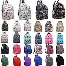 Boys Girls Retro Backpack Rucksack School College Travel Laptop Canvas Bag
