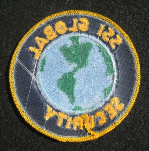 """SSI GLOBAL SECURITY EMBROIDERED SEW ON PATCH SERVICES UNIFORM ADVERTISING 3 1//4/"""""""