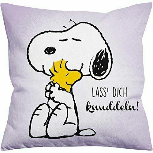 Snoopy Kissen Lass Dich Knuddeln Peanuts Dekokissen 40 x 40 cm Cushion