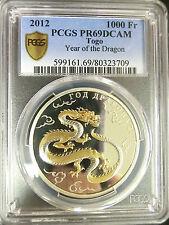 2012 Togo / France Golden Dragon Silver Coin PCGS PR69 ngc pf icg anacs francs